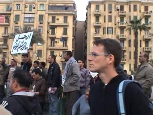 אני בכיכר תחריר בהפגנת המיליון